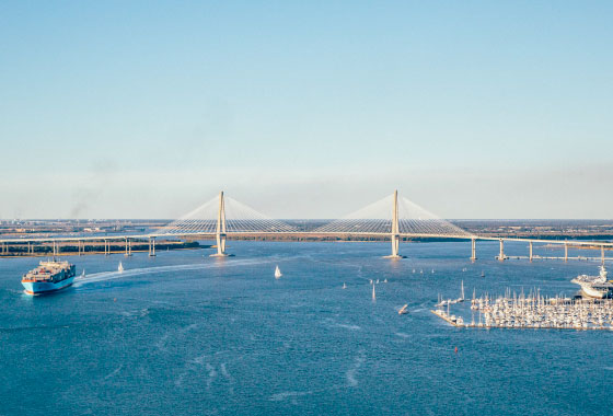 Image of the Arthur Ravenel Jr. bridge
